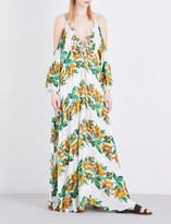 Free People Monarch woven maxi dress