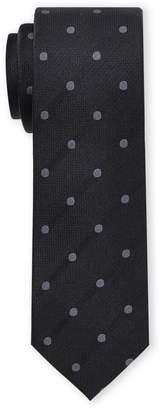 Ben Sherman Black Polka Dot Silk Tie