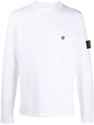 Stone Island Knitted Long Sleeve Jumper