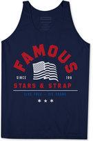 Famous Stars & Straps Men's Live Free Graphic-Print Logo Cotton Tank