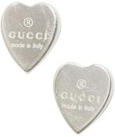 Gucci 925 Sterling Silver Heart Earrings