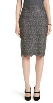 St. John Women's Plume Embroidered Lace Pencil Skirt