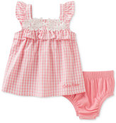 Calvin Klein 2-Pc. Gingham Tunic & Diaper Cover Set, Baby Girls (0-24 months)