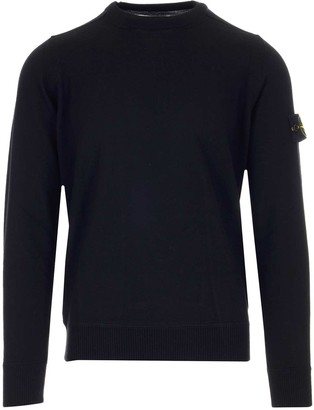Stone Island Logo Patch Crewneck Jumper