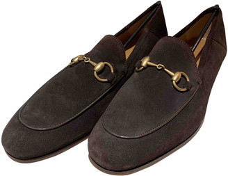 Gucci Brown Suede Flats