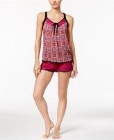 Layla Mixed-Print Cami and Boxer Shorts Pajama Set