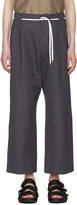 SASQUATCHfabrix. Brown & Navy Striped 50's Trousers