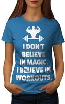 Believe Gym Workout Sport Workout Gym Women M T-shirt | Wellcoda