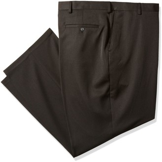 Haggar Men's Big-Tall Travel Performance Heather Expandable Waist Classic Fit Pant