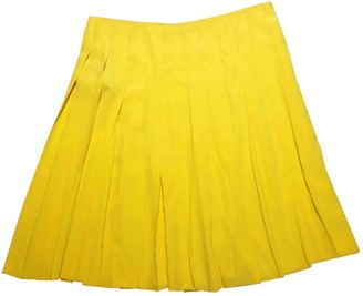 Prada Yellow Silk Skirt for Women