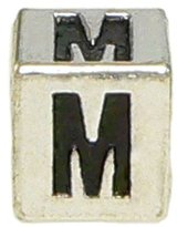"Olympia Block Letter ""M"" Alphabet Charm - Major Brand Name Bracelet Compatible"