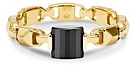 Michael Kors Mercer Link Semi-Precious Sterling Silver Ring in 14K Gold-Plated Sterling Silver or Solid Sterling Silver