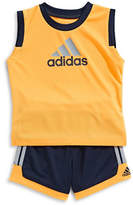 Adidas Two-Piece Top and Basketball Shorts Set