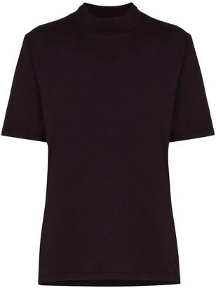 LES TIEN mock-neck short-sleeve T-shirt