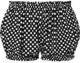 Norma Kamali Polka-dot Swim Shorts - Black