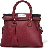Maison Margiela 5ac Small Textured-leather Tote - Burgundy
