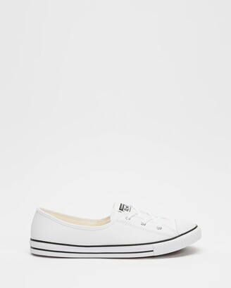 Converse Women's White Slip-On Sneakers - Chuck Taylor All Star Ballet Lace - Women's - Size 5 at The Iconic