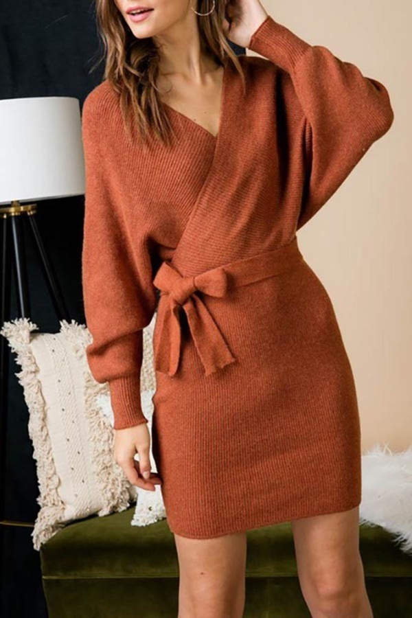 Factory Unknown Fall Sweater Dress