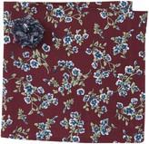 Original Penguin Deline Floral Pocket Square & Lapel Pin Set