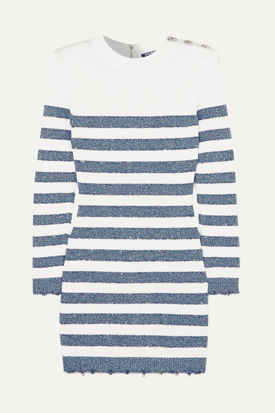 6502d2a4 Balmain Stripe Mini Dress - ShopStyle