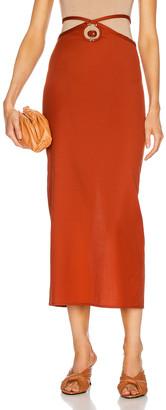 CHRISTOPHER ESBER Orbit Quartz Loophole Tie Skirt in Terracotta & Red Jasper | FWRD