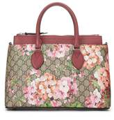 Gucci Pink Supreme Canvas GG Blooms Tote
