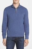 Nordstrom Men's Big & Tall Ribbed Quarter Zip Sweater