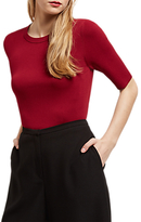 Jaeger Compact Knitted Top, Bordeaux