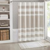 """Madison Park Spa Waffle Shower Curtain with 3M Treatment - Taupe/72"""" x 72"""""""