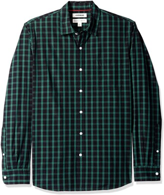 Goodthreads Men's Standard-Fit Long-Sleeve Two-Color Windowpane Shirt