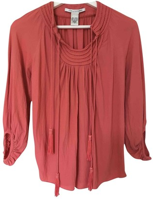 Diane von Furstenberg Red Linen Top for Women