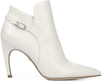 Sam Edelman Fiora Snakeskin-Embossed Leather Ankle Boots