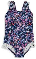 Andy & Evan Toddler's & Little Girl's One-Piece Splatter Swimsuit