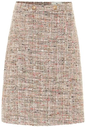 Etro Tweed cotton-blend A-line skirt