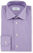 Eton Contemporary-Fit Micro-Gingham Woven Dress Shirt, Purple