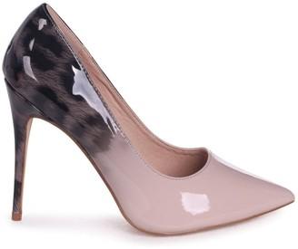 Linzi Phoenix Mocha Leopard Ombre Effect Stiletto Court Heels