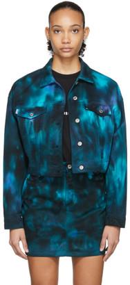 MSGM Navy Tie-Dye Jacket