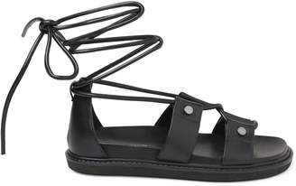 BCBGeneration Millie Faux Leather Ankle-Strap Sandals