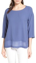 Eileen Fisher Women's Sheer Hem Silk Top