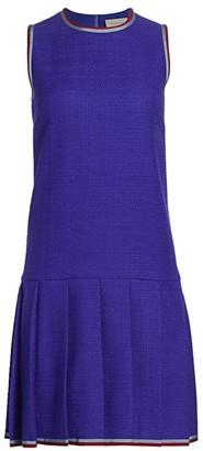 Gucci Sleeveless Tweed Drop Waist Daywear Dress