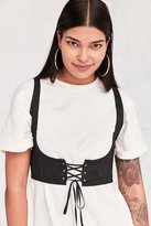 Silence & Noise Silence + Noise Cassidy Cropped Corset Vest