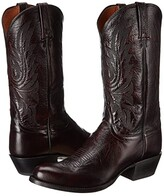 Lucchese M1021.R4 (Black Cherry Lonestar Calf Cowboy) Cowboy Boots