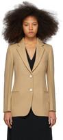 Victoria Beckham Beige Single-Breasted Jacket