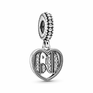 Pandora Ladies Moments 60th Birthday Charm Sterling Silver Cubic Zirconia 797265CZ