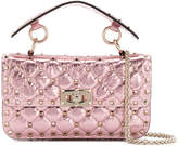 Valentino Metallic Pink Rockstud Spike cross body bag