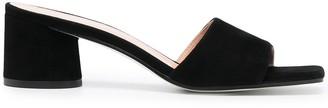 Pollini Suede Slip-On Sandals