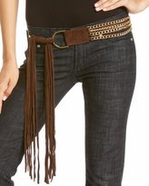 Chain & Leather Fringe Belt