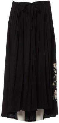 Yohji Yamamoto Black Viscose Shorts