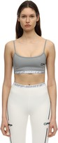 Off-White Off White Logo Techno Jersey Crop Top
