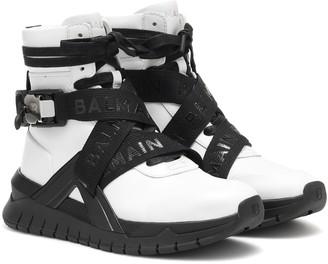 Balmain BTroop high-top leather sneakers